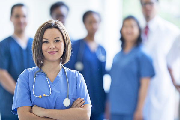 Nurse Standing in the Hospital