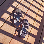 slippers in shadow