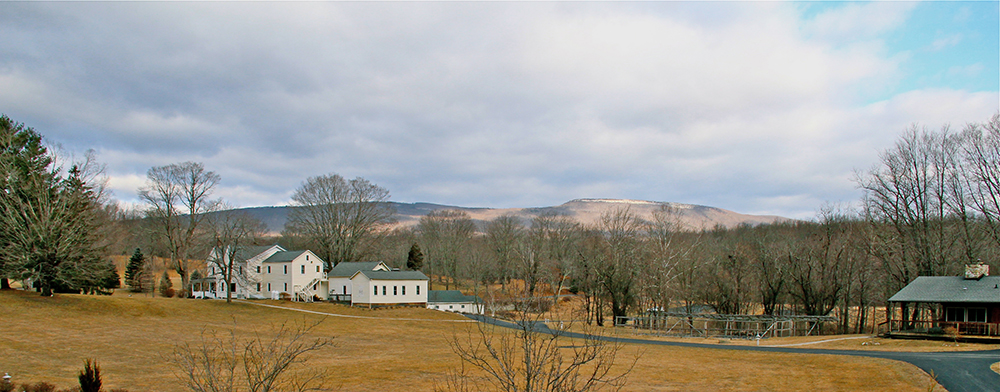 View from dorms of Shawangunk Ridge