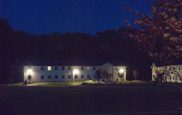 dorm at night